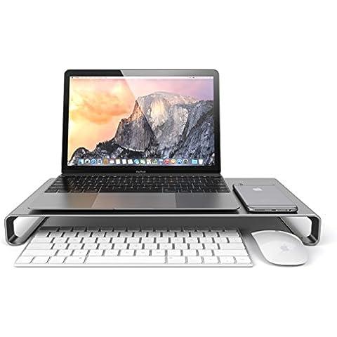 Satechi Soporte de Aluminio de Alta Calidad Universal para Monitor / Laptop / iMac / PC (Gris Espacio)