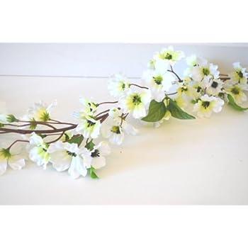 Amazon.de: Blumengirlande Blumen Girlande creme weiß künstlich ...