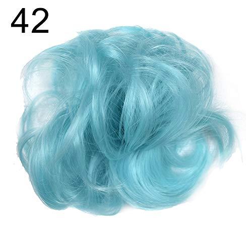 Muzhili3 Perücke, für Damen, elastisch, gelockt, Dutt, Chignon, Pferdeschwanz, Haarteil - 18#