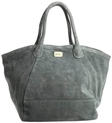Diesel  Lazy Warrior Scene Shopper Steel, Sac à main femme - Gris acier,