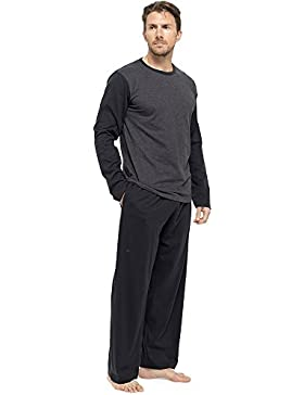 Tom Franks Hombre Largo camiseta, algodón pijama