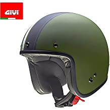 GIVI H207FMGBK59 Hps 20.7 Jet Casco, Fibra Óptica Arizona, Color Verde/Negro,