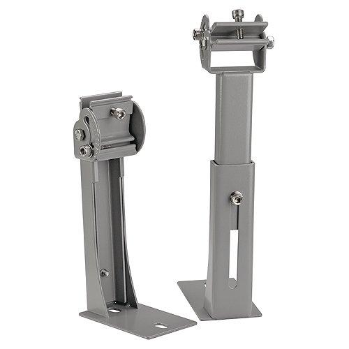 Slv - Juego soporte pared largo para luminaria vano plata (2u)