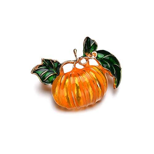 Underleaf Halloween Kürbis Pflanze Brosche Revers Pin DIY Brosche Pins Abzeichen Zubehör für Kleidung Shirt Jacken Mäntel Krawatte Hüte Caps Taschen