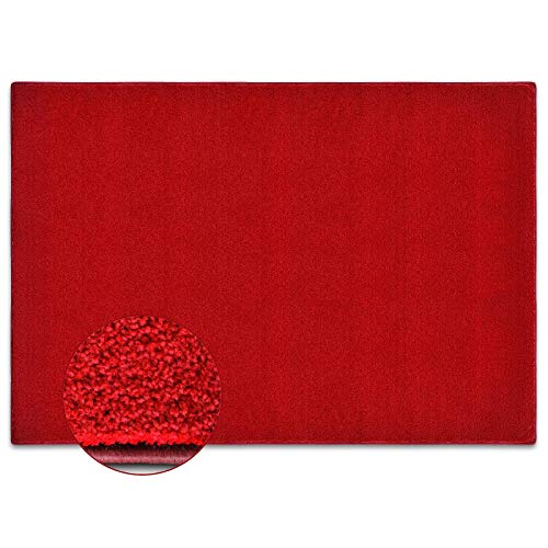 Tapis de salon rouge