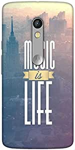Snoogg Music Is Life Hard Back Case Cover Shield For Motorola X Play