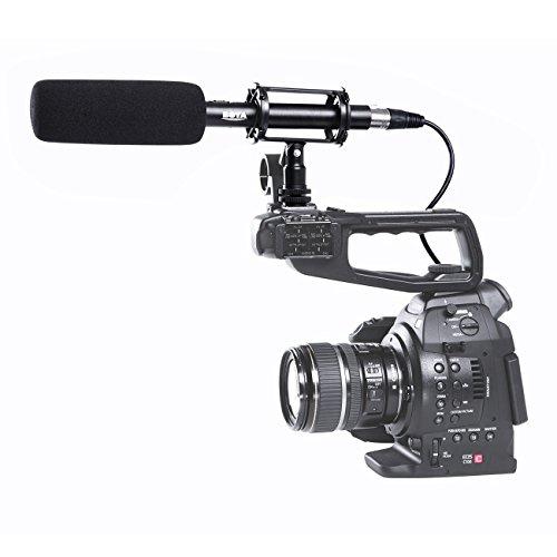 BOYA BY- PVM1000 Profesional Entrevista Shotgun Micrófono de Condensador de Escopeta XLR para Videocámaras y Cámaras de Vídeo DV Canon EOS 5D3 5D4 Nikon D500 D750 D810 Sony A9 Panasonic