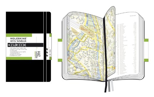 Moleskine City Notebook ZÜRICH Couverture rigide noire 9 x 14 cm