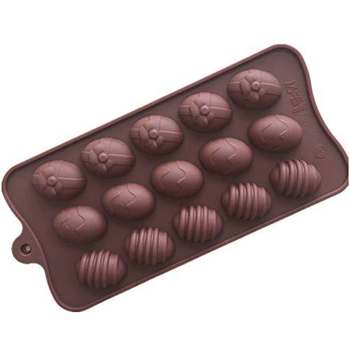probeninmappx Silikon Backform 3D Ostereier Schokoladenform Pudding Gebäck Süßwaren Form Backform Küche Kuchen Backformen Werkzeuge