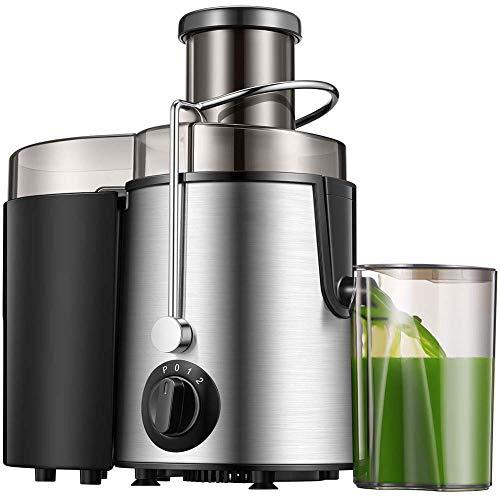 Mary Fast Shop Juicer Wide Mouth Speed Entsafter 3-Fach Entsafter mit Tropfschutzfunktion für Obst und Gemüse, Edelstahl und BPA-frei