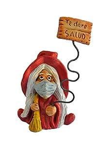 Figura decorativa Bruja Suerte Mascarilla