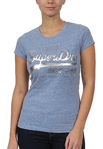 Superdry VINTAGE LOGO GRAVÉ Film T-shirt, rose fluo Cali Blue Snowy