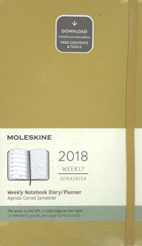 2018 Moleskine Maple Yellow Large Weekly Notebook Diary 12 Months Hard