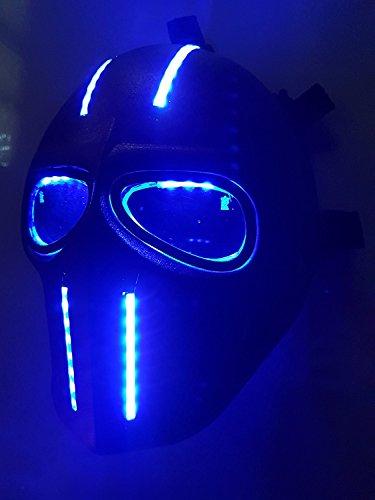 Softair Maske LEDs Army of Two schutzausrüstungen Outdoor Sport Fancy Party Masken BB (Reales Gas Maske)