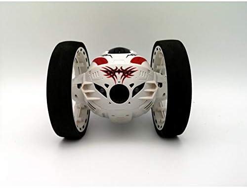 ZMH ZMH ZMH RC Voiture Upgrade Version Jumping Mini Voitures Jouet Flexible Roues Rotation Musique LED Light Robot Voiture  s Cadeaux,White | Respectueux De L'environnement  52f54e