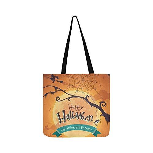 Halloween poster leinwand tote handtasche umhängetasche crossbody taschen geldbörsen für männer und frauen einkaufen tote