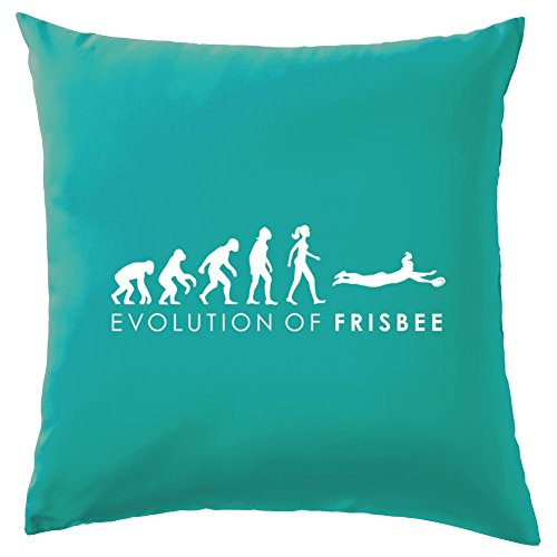 Frisbee - Dekokissen 41 x 41 cm - Türkis (Frisbees In Der Masse)
