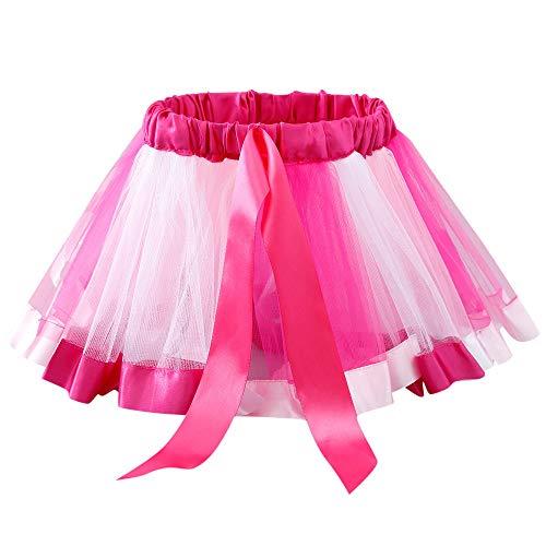 sunnymi 2-6 Jahre Baby Mädchen Dancewear Kinder Petticoat Regenbogen Pettiskirt Bowknot Rock Tutu Röcke