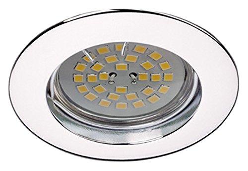 Wonderlamp W-E000025 Basic Basic - Foco empotrable redondo fijo, color cromo