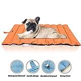 KOBWA Größe Wasserdicht Pet Mats, Ultra Weichem Dog & Cat Bed Cover–Nicht klebende Haar, Tragbare Rolle zu Pad, Hund für Outdoor oder Indoor–Buche, Böden