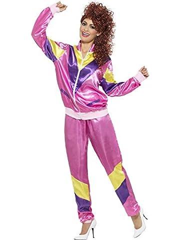 80er Jogginganzug pink Damen Prolet Cindy Jogger Gr. M (80 Anzug Kostüm)
