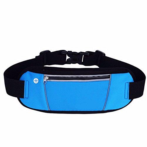 Licht Mit Gürtel, Handy - Tasche, Ein Läufer, Taille Tasche Gürtel Blau