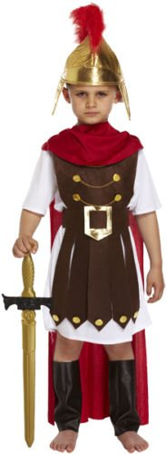 BOYS ROMAN GENERAL KIDS SPARTA SOLDIER FANCY DRESS OUTFIT COSTUME 7 - 9 YEARS