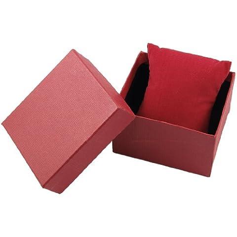 Rojo Rectángular Regalo Reloj De Pulsera Caja Soporte