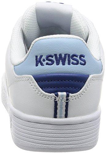 K-Swiss Damen Clean Court CMF Sneaker Schwarz(WHT/DREAMBLUE/LIMOGES)