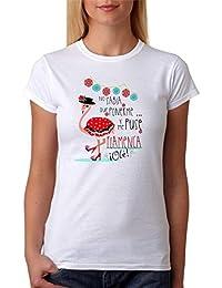 MardeTé Camiseta Flamenca Divertida. No sabía Que ponerme y me puse Flamenca, Ole.