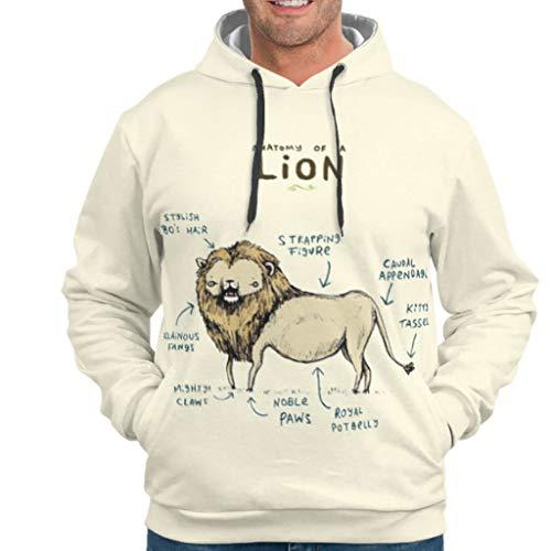 Dogedou Mens Basic Hoodie Sweatshirt Löwe Longsleeve Langarm Pullover Für Mädchen drakblack s