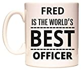 Best Fred & Friends Gift For Brothers - FRED is The World's Best Officer Mug Review