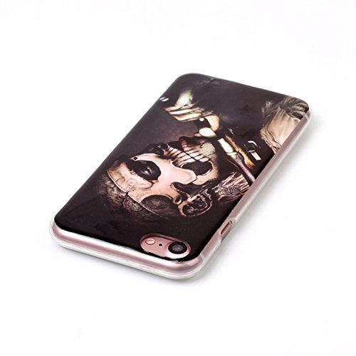 BONROY® Silikon Handy hülle für iPhone 7 (4,7 Zoll) TPU Gummi Taschen Weich Soft Back cover,TPU Silikon Gemalt Muster Handytasche Weiche Zurück Tasche Etui Bumper Kratzfeste Soft Back Cover für iPhone Tattoo Bewaffneten