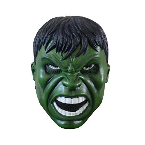 Nihiug Ghost Mask Guard Halloween Horror Hoke Hulk Mysterious Man Ghost Festival Furchtsame Zombie Adult Halloween Kostüm Maske Monster,A