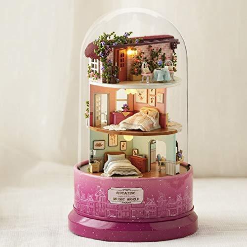 Maison de poupée avec boîte à musique Jagenie - A faire soi-même - Pour anniversaire, 3, D