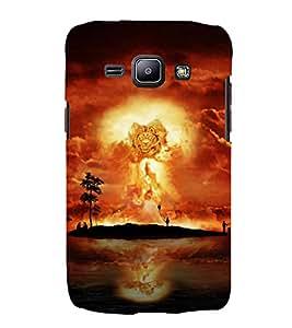 Fuson Designer Back Case Cover for Samsung Galaxy J1 (2015) :: Samsung Galaxy J1 4G (2015) :: Samsung Galaxy J1 4G Duos :: Samsung Galaxy J1 J100F J100Fn J100H J100H/Dd J100H/Ds J100M J100Mu (Lion Roaring Lion Lion Face King of Jungle Jungle King)
