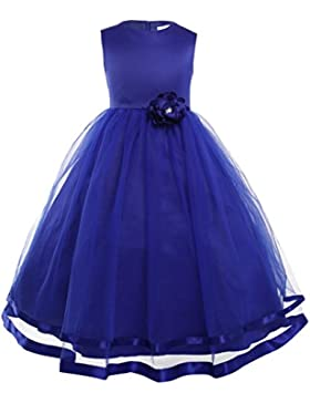 Freebily Vestido Largo de Princesa para Niña (2-14 años) sin Manga Vestido Infantil Boda Fiesta