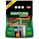DIAVOLINA PELLET SPAZZACAMINO PER STUFE-CALDAIE A PELLET TOGLI FULIGGINE 1,5 KG