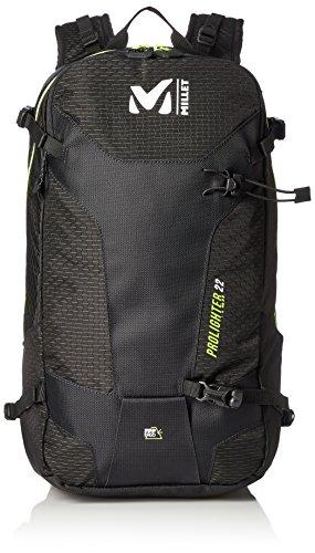 MILLET Unisex-Erwachsene Prolighter 22 Rucksack, Schwarz (Black/Noir), 15x24x45 Centimeters (Nylon Rucksack Alpine)