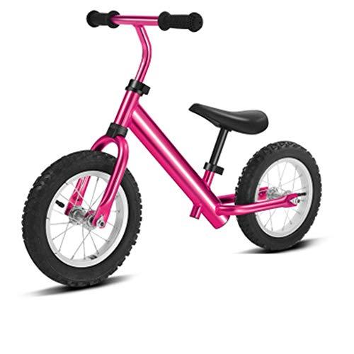 Kinder Balance Auto, Schiebe Fahrrad Kleinkind Aluminium Roller 2-7 Jahre Alt Dämpfung Junge/Mädchen Federung Luftreifen Rest Pedal Weichen Sitz, 4 Farben (Farbe: Blau) (Color : Pink) - Walker Rest Sitz