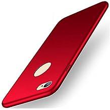 EIISION Iphone 6/6s plus Funda,Ultra ligero Suave mate sedoso pintura PC Funda protectora de teléfono (rojo)