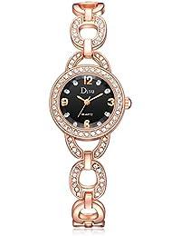 03b8145d10aaef YunYoud Rose Gold Plated Damen Elegant Strass Armband Fashion Uhren damen  schmuck damenuhr silber günstig frauen
