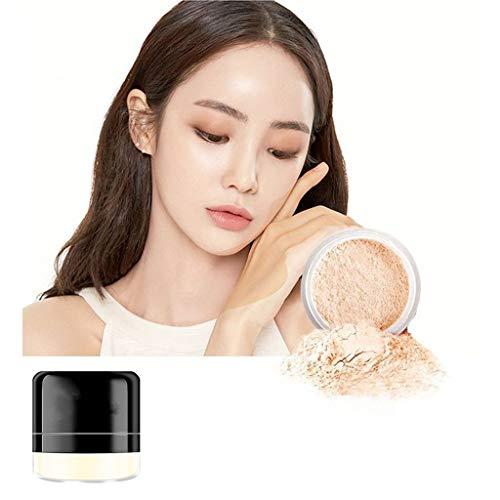 kuygdvd-UK Maquillaje Polvos de Acabado Suelto Translucent Mate Smooth Setting Foundation Control de aceite poros invisibles impermeable duradero (A)