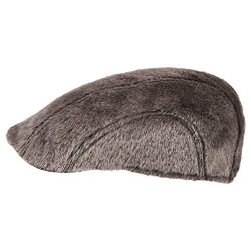 Stetson Casquette Madison Lamb Fur Homme | Made in Germany Fourrure Naturelle Bonnet en Forme de Bec avec Visiere Automne-Hiver | 57 cm Marron