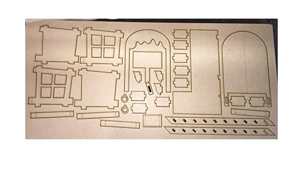Grande 3d Elfe Porte Avec étapes Pour Fixation Murale Au