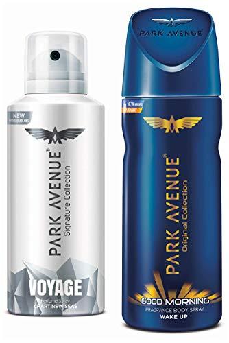 Park Avenue Signature Voyage Deodorant, 140ml and Park Avenue Good Morning Body Deodorant For Men, 100g