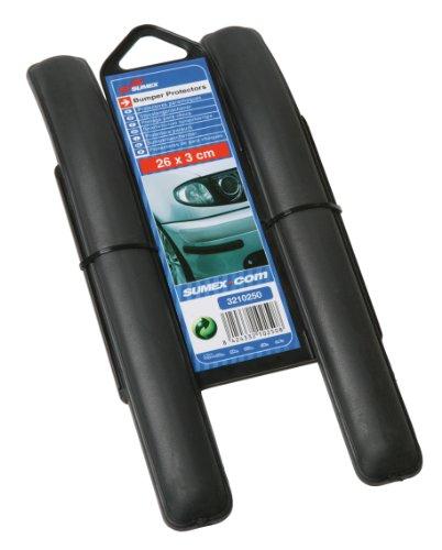 sumex-3210250-protectores-parachoques-europe-26x3-cm-color-negro-2-unidades
