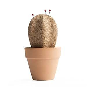 Suck Uk Cork Cactus Organizer da Scrivania, Sughero, Marrone, 9 x 9 x 13 cm