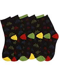 3 x Boys Cotton Rich Computer Outer Space Design Pattern Socks