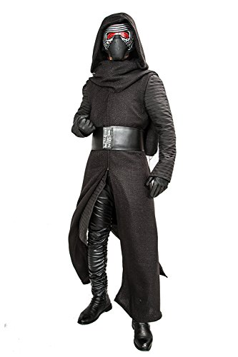 siert Version Deluxe Erwachsenes Coole Fancy Hooded Robe Halloween Kleidung mit Handschuhe Gürtel (Custom Made Darth Vader Kostüm)